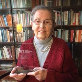 Sarah Landau and her JVN Lifetime achievement
